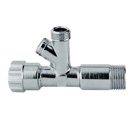 Angle Valve With Strainer, Chrome Plated, ABS Handle.