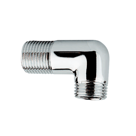 Recessed Elbow Chrome Plated, Male Threaded. Female NPT.