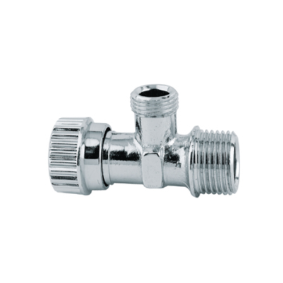 Under Sink Angle Valve With Screw Stem, Chrome Plated, ABS Handle
